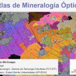 Captura de la web del recurso Atlas de mineralogía óptica